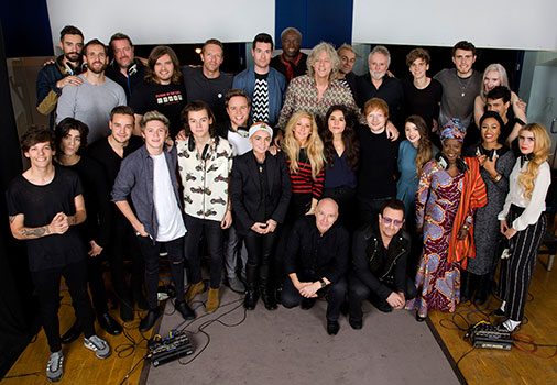 Band Aid 30 group shot